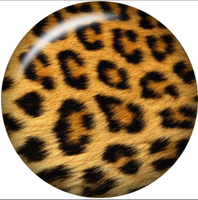 Leopard Print Ginger Snap Compatible Charm 18mm