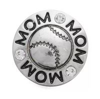 Baseball Mom Ginger Snap Button Compatible Charm Sport 18mm