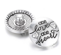 Love Ginger Snap Button Compatible Charm 18mm