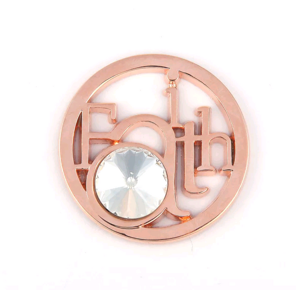 Rose Gold Faith Medallion