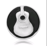 Music Guitar Snap Charm 18mm