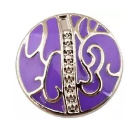 Royal Purple Snap Charm 18mm
