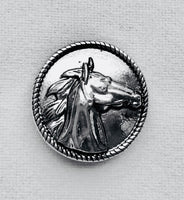 Silver Horse Snap Charm 18mm