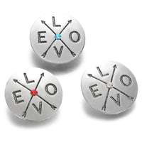 Love Arrows 18MM Snap Charm