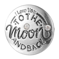 I love you to the moon and back Snap 18mm charm