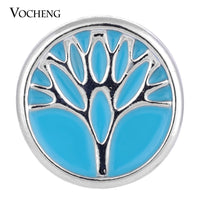 Snap Charm Family Tree of Life 3 Colors Hand Painted 18mm