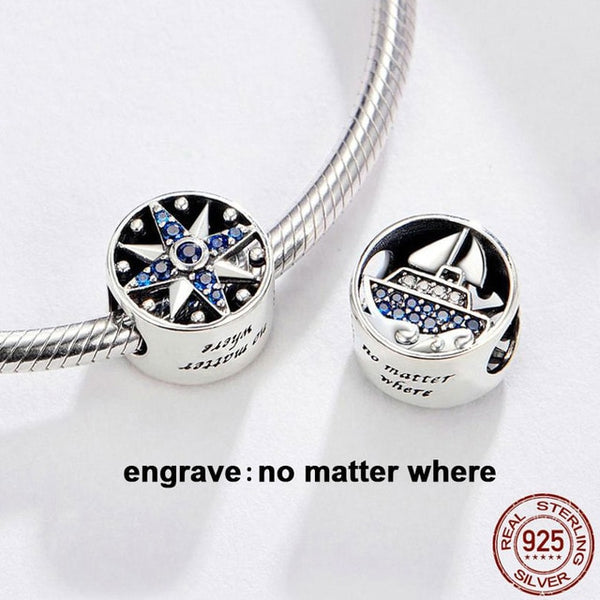Sail Boat 925 Sterling Silver Charm Pandora Compatible