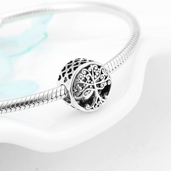 Silver Family Tree of life Grows in Love 925 Sterling Charm Pandora Compatible
