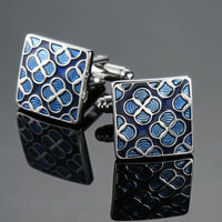 Morroccan Men's French shirts cufflinks Blue