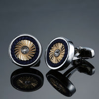 Black and Gold Men's French shirt Cufflinks