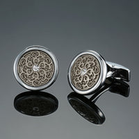 Two tone Men's French shirt Cufflinks