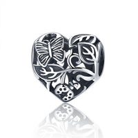 Garden Ladybug 925 Sterling Silver Charm Pandora Compatible