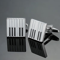 Piano gold or silver music symbol French shirt Cufflinks free shipping