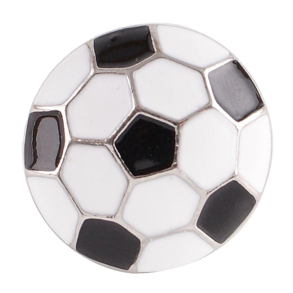 Soccer Ball Ginger Snap Compatible Charm 18mm