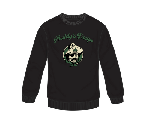 Freddy's Fuego Women's Black Crewneck