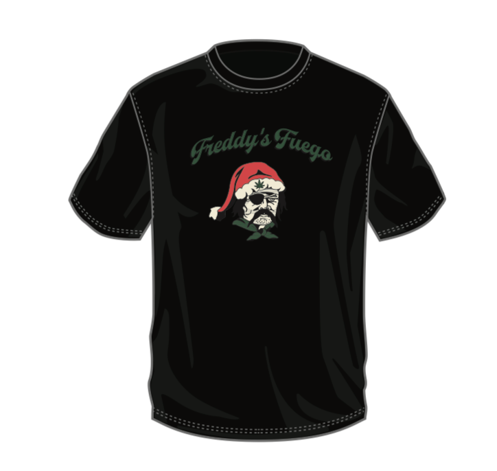 Santa Freddy's Fuego Black T-Shirt