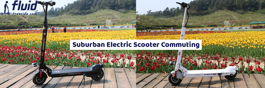 Suburban Electric Scooter Commuting