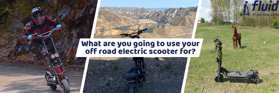 Off road electric scooter use