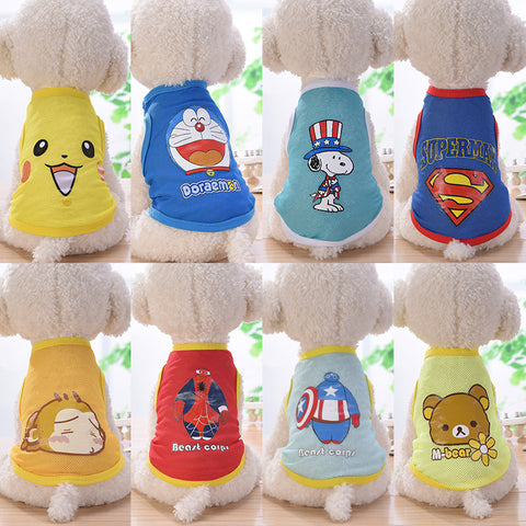Pet Products New Fashion 12 Style Pet Cat Costume Small Dog Cat Clothes Cute Puppy Cat Kitten T-shirt Summer Vest Shirt Apparel For Spring And Summer