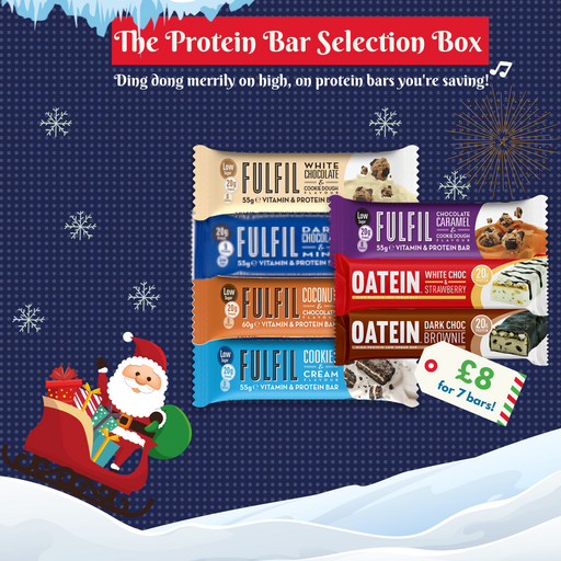 The Protein Bar Selection Box 2019 - 7 high protein bars for £8