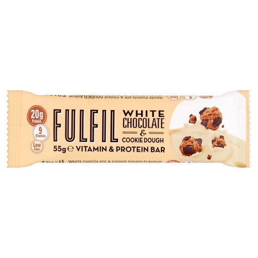 Fulfil White Chocolate & Cookie Dough Protein Vitamin Bar 55g
