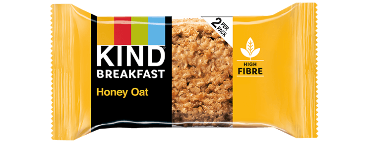 KIND Breakfast Honey Oat Breakfast Biscuit 50g (2x25g biscuits per pack) - Case of 12 packs Multisave