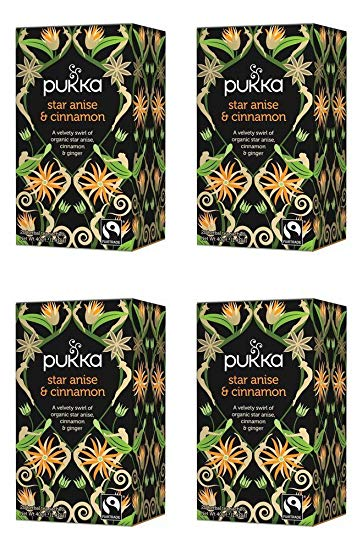 Pukka Star Anise & Cinnamon (20 bags per pack) x4 Packs Multisave