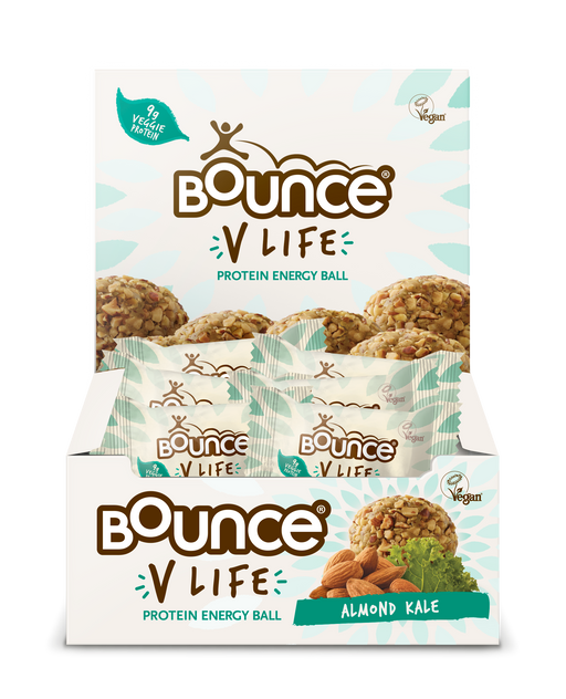 Bounce V-Life Almond Kale Protein Energy Ball 40g - Case of 12 Multisave