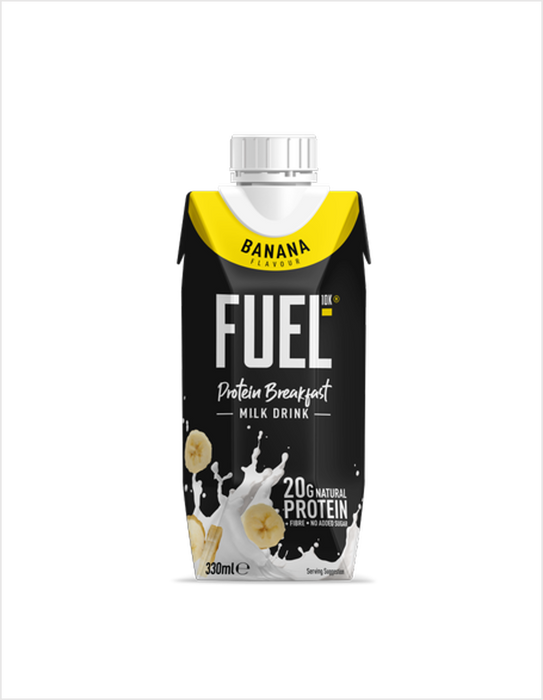 Fuel10K Banana Flavour Protein Breakfast Milk Drink 330ml - Case of 8 Multisave