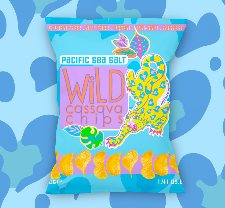 Wild Cassava Chips, Pacific Sea Salt Flavour 40g - Case of 12 packs Multisave