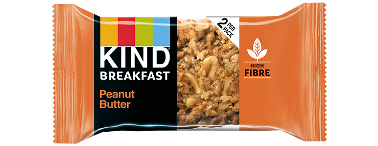 KIND Peanut Butter Breakfast Biscuit 50g (2 x 25g pack) - Case of 12 packs Multisave (Best Before Date: 13/12/2020)