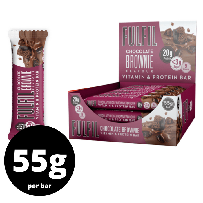 Fulfil Chocolate Brownie flavour Protein & Vitamin bar 55g - Case of 15 Multisave