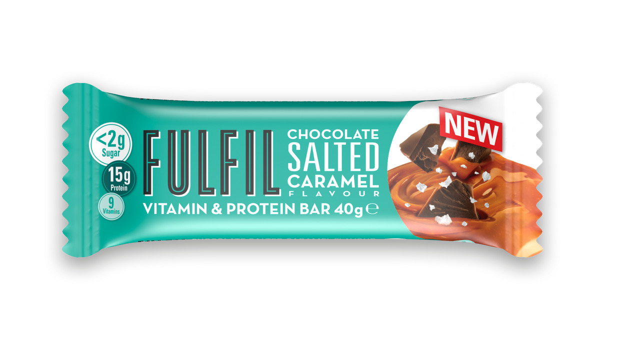 Fulfil Chocolate Salted Caramel Snack-Size Protein & Vitamin bar 40g (Best Before Date: 26/11/2021)