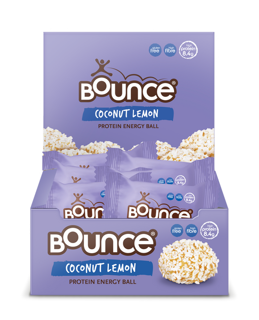 Bounce Coconut Lemon Protein Energy Balls 40g - Case of 20 Multisave (Best Before Date: 06/07/2019)