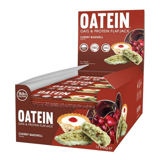 Oatein Cherry Bakewell Oats & Protein Flapjack 75g - Case of 12 Multisave
