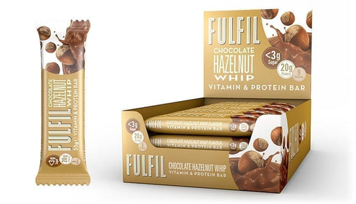 Fulfil Chocolate Hazelnut Whip Protein & Vitamin bar 55g - Case of 15 Multisave