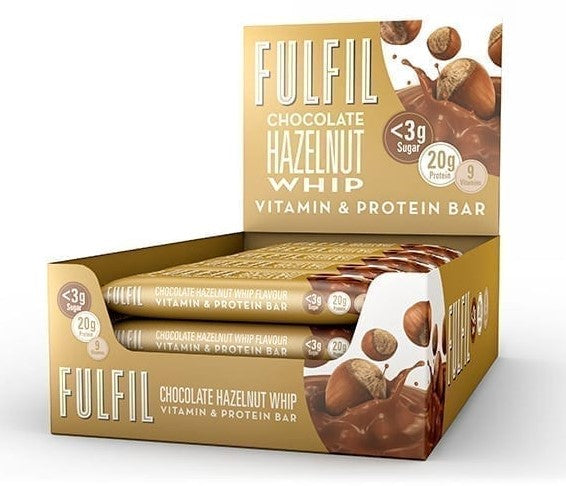 Fulfil Chocolate Hazelnut Whip Protein & Vitamin bar 55g - Case of 15 Multisave (Best Before Date: 05/02/2021)
