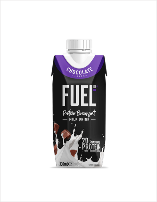 Fuel10K Chocolate Flavour Protein Breakfast Milk Drink 330ml (Best Before Date: 22/01/2021)