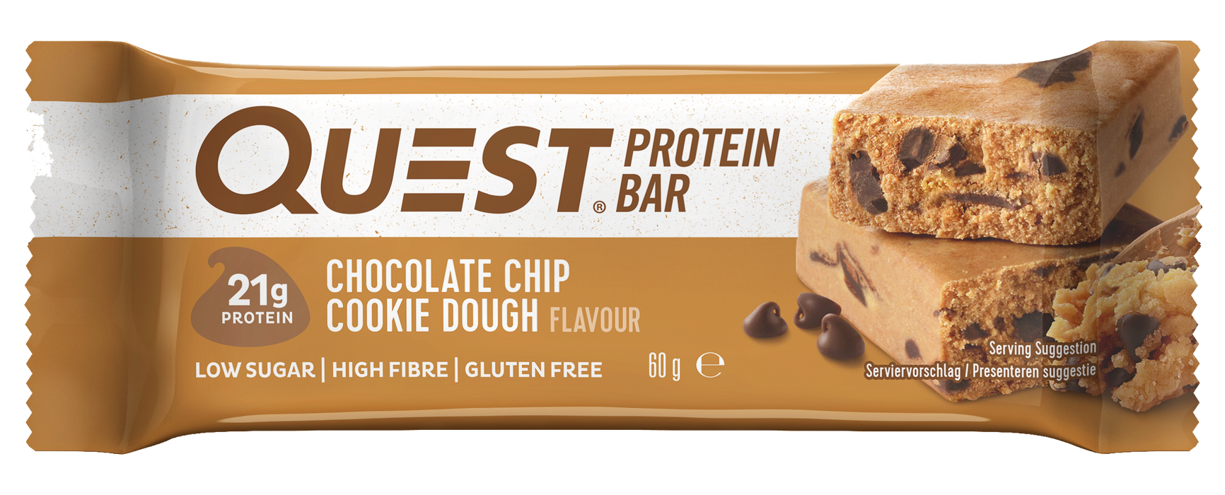 Quest Chocolate Chip Cookie Dough Protein Bar 60g - Case of 12 Multisave