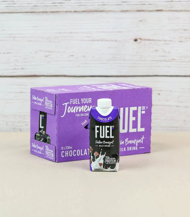 Fuel10K Chocolate Flavour Protein Breakfast Milk Drink 330ml - Case of 8 Multisave (Best Before Date: 22/01/2021)