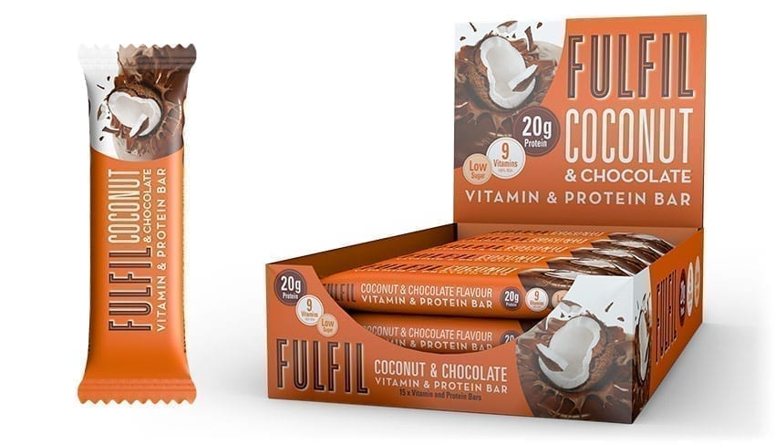 Fulfil Coconut & Chocolate Flavour Protein and Vitamin bar 60g - Case of 15 Multisave