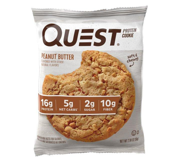 Quest Peanut Butter Flavour Protein Cookies 58g - Case of 12 Multisave