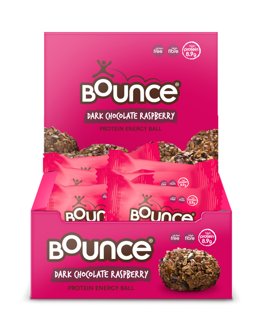 Bounce Dark Chocolate Raspberry Protein Energy Balls 40g - Case of 12 Multisave (Best Before Date: 24/06/2019)