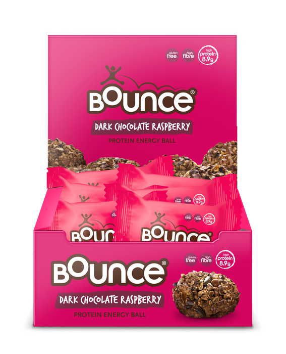 Bounce Dark Chocolate Raspberry Protein Energy Balls 40g - Case of 12 Multisave