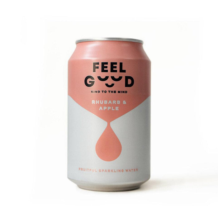 FeelGood Rhubarb & Apple Sparkling Water 330ml - Case of 12 Multisave