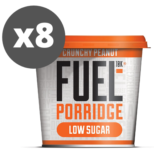 Fuel10K Crunchy Peanut Porridge Pot 60g - Case of 8 pots Multisave