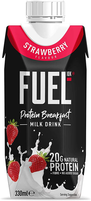 Fuel10K Strawberry Flavour Protein Breakfast Milk Drink 330ml - Case of 8 Multisave