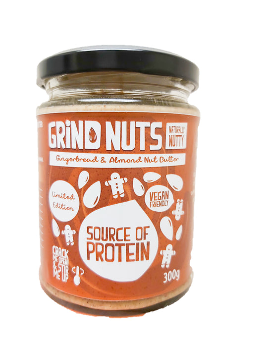 Grind Nuts Naturally Nutty Gingerbread and Almond Butter 300g