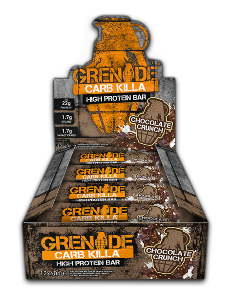 Grenade Chocolate Crunch Carb Killa Protein Bar 60g - Case of 12 bars Multisave