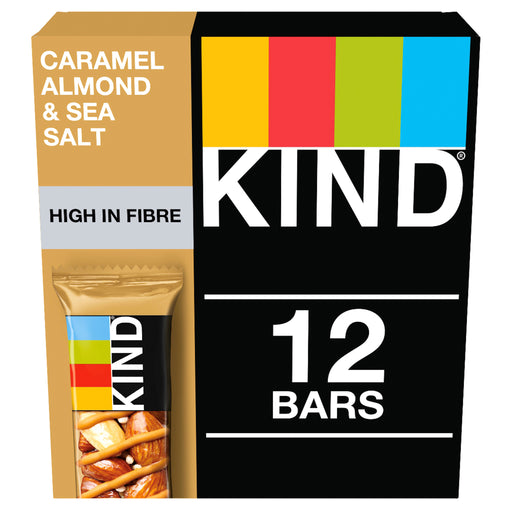 KIND Caramel Almond & Sea Salt nut bar 40g - Case of 12 Multisave